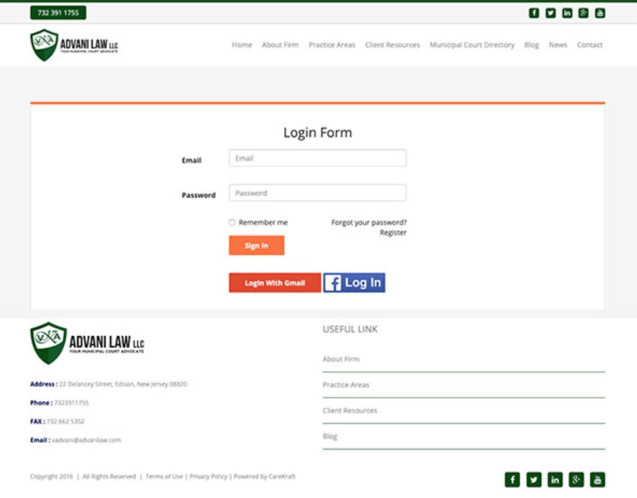 Advani Law Ticket App
